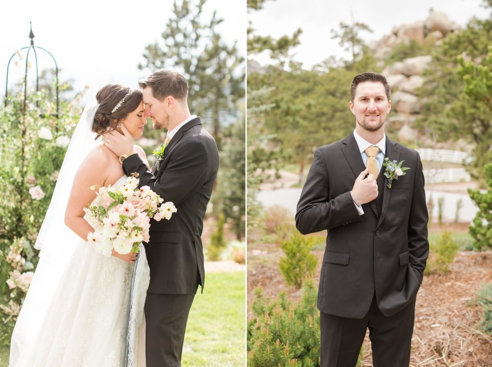 Bride and groom photos at the Stanley Hotel in Estes Park Colorado.