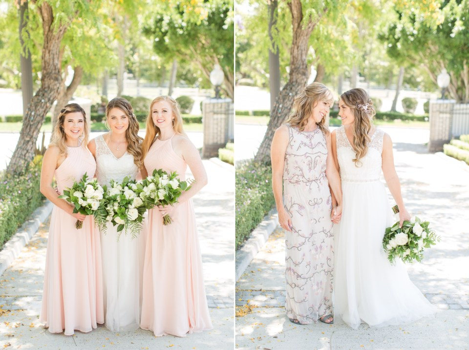 Bride and mother wedding day poses that look flattering and natural. Coto Valley County Club wedding in Coto De Caza California.