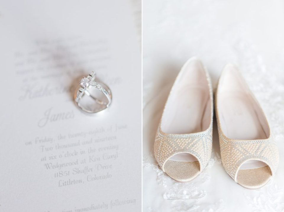 Classic white wedding details from Denver Colorado wedding photographer.
