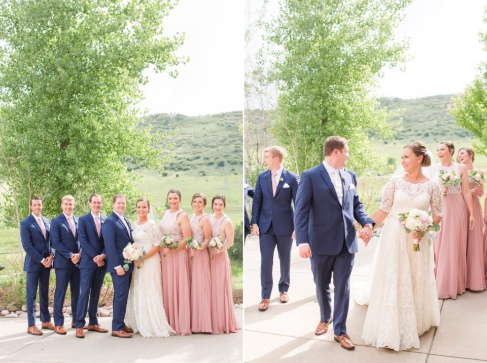 Blush and navy wedding inspiration for a spring colorado wedding.