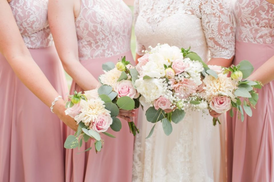 Soft and romantic wedding flower inspiration for a Colorado summer wedding.