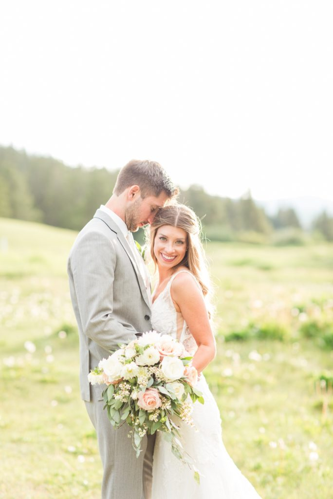 Copper mountain summer wedding at Copper station.