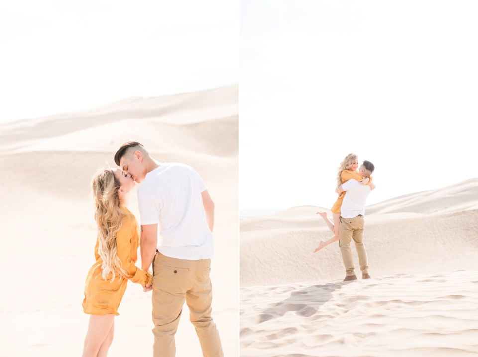 Colorado unique engagement session locations. Great Sand Dunes National Park