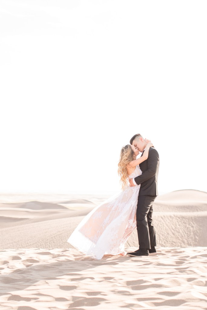 Elopement at the Great Sane Dunes National Park in Colorado.