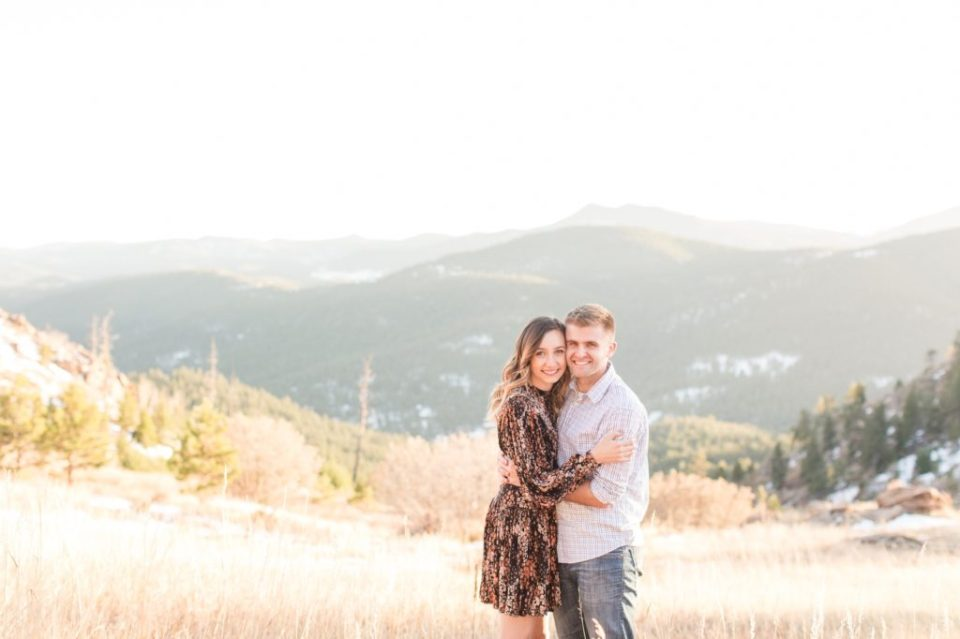 Mt. Falcon engagement session. Colorado engagement session location ideas. Colorado wedding photographer Theresa Bridget Photography.