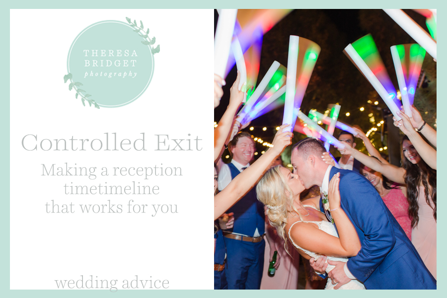 Blog post that talks abut the advantages of a controlled wedding exit