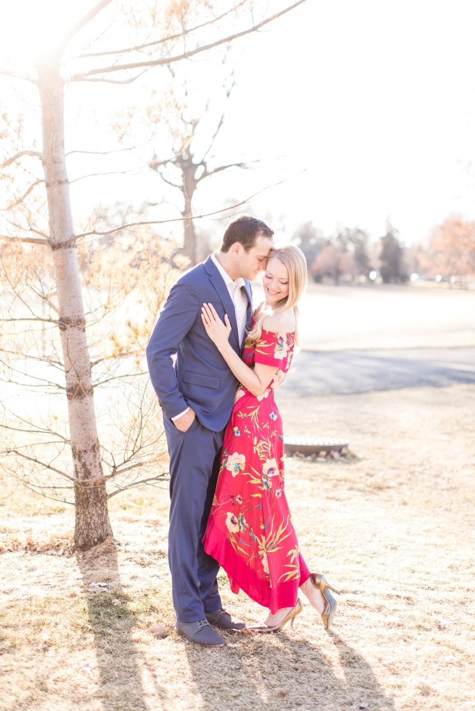 Engagement session at City Park in Denver Colorado.