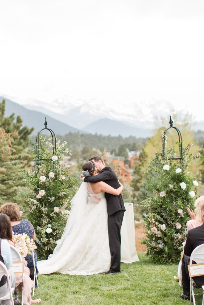 Longs Peak ceremony site at the Stanley Hotel. Colorado Wedding Photographer Theresa Bridget Photography