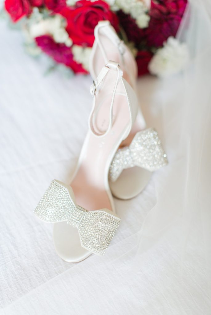 White kate spade wedding shoes.