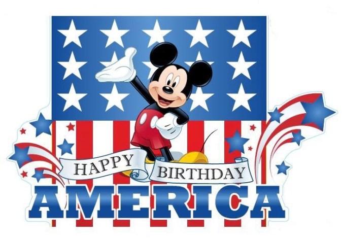 mickey happy birthday america