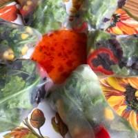 Summer Time Raw Vegan Vietnamese Vegetable Rolls