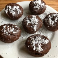 Gluten-free & dairy-free mini chocolate lava cakes