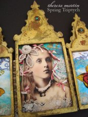 theresa mARTin Spring Triptych