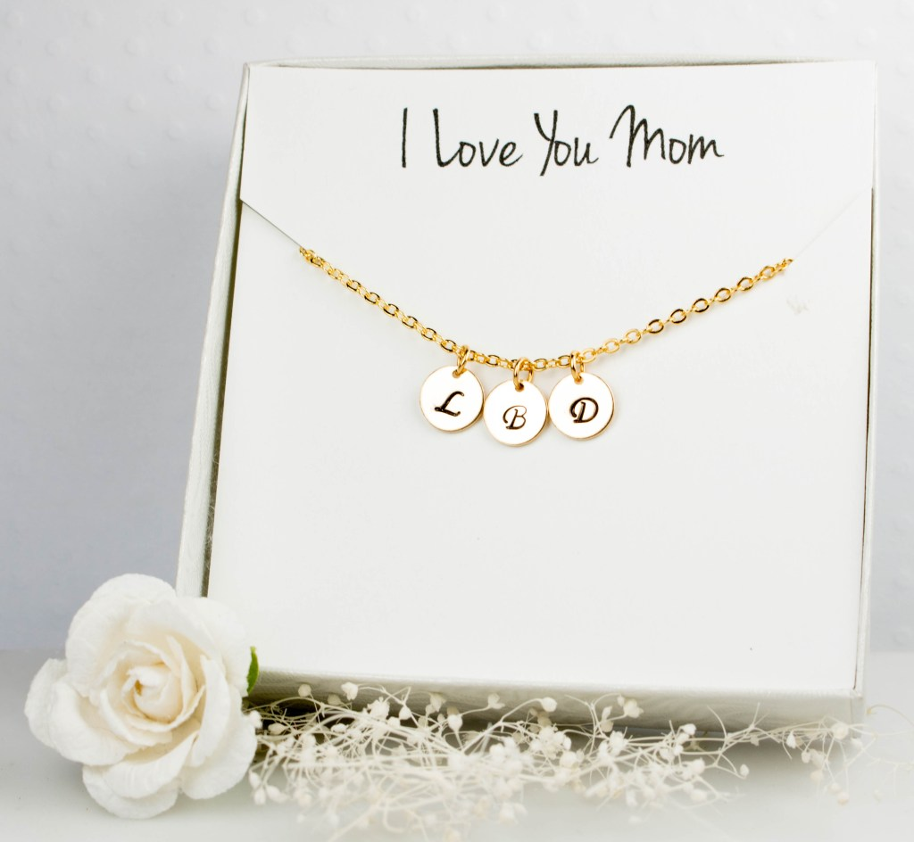 Personalized Initial Gold Necklace