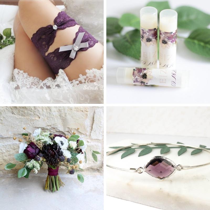 Theresa Rose Designs Plum Wedding