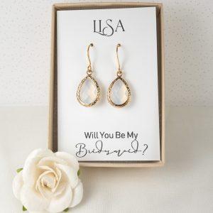white-opal-bridesmaid-earrings