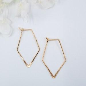 geometric-hammered-diamond-gold-earrings