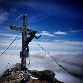 Am Hochgolling-Gipfel.