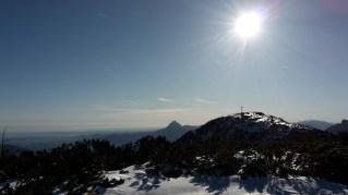 Blick zurück zum Brunnkogel mit Traunstein im Hintergrund