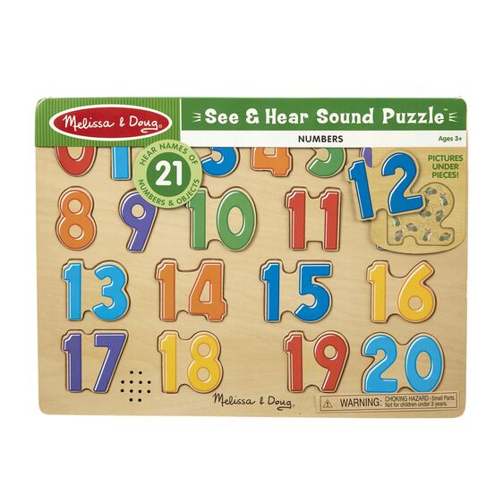 Melissa & Doug 21 Piece Sound Number Puzzle