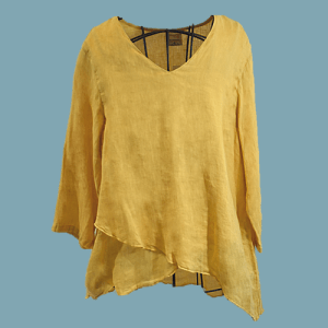 Goldenrod Asymmertrical Layered Top