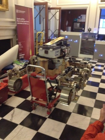 This is when Bruno, a Mars rover, arrived in the Royal Institution!