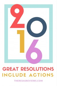 Great resolutions involve actions - www.theresasreviews.com - Theresa's Reviews