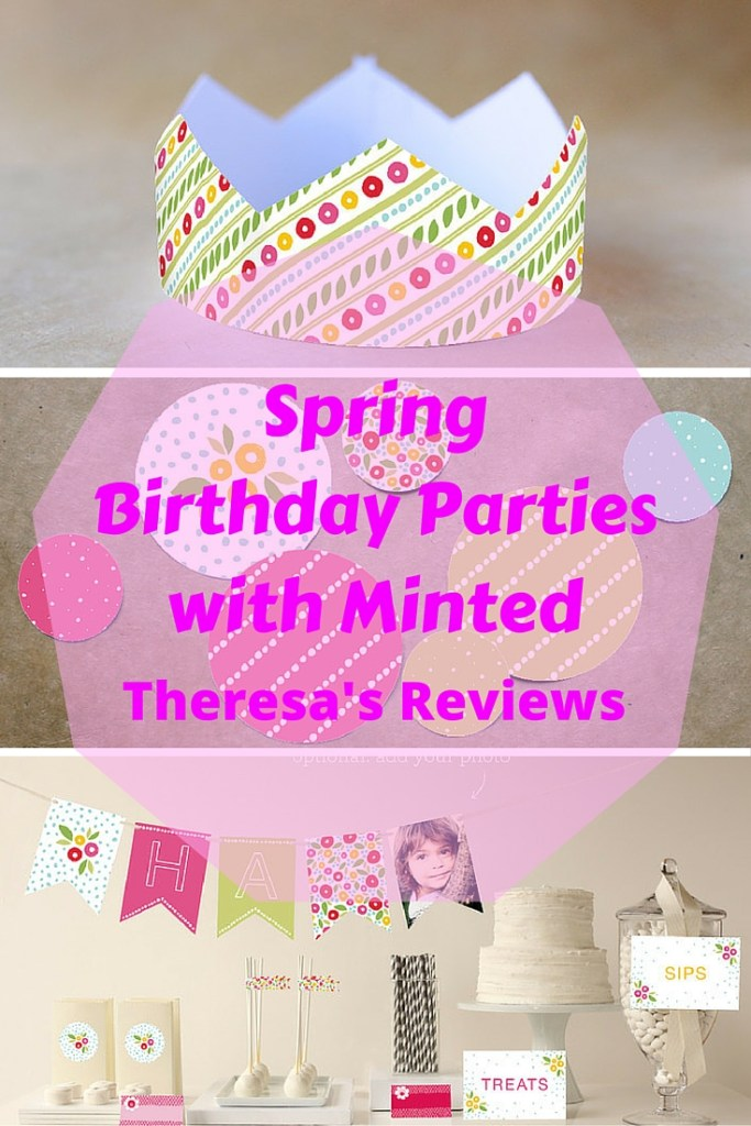 Spring Birthday Parties with @Minted - Theresa's Reviews