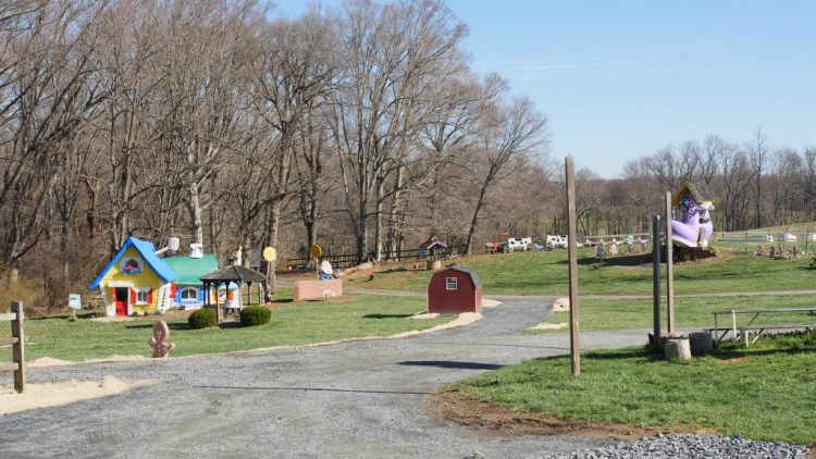 With whimsical attractions and wide open land, Clark's Elioak Farm is appealing to both children and adults.