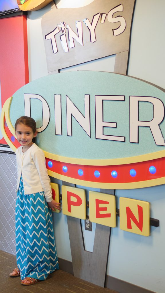 At Tiny's Diner, children enjoy taking part in a real life restaurant situation.