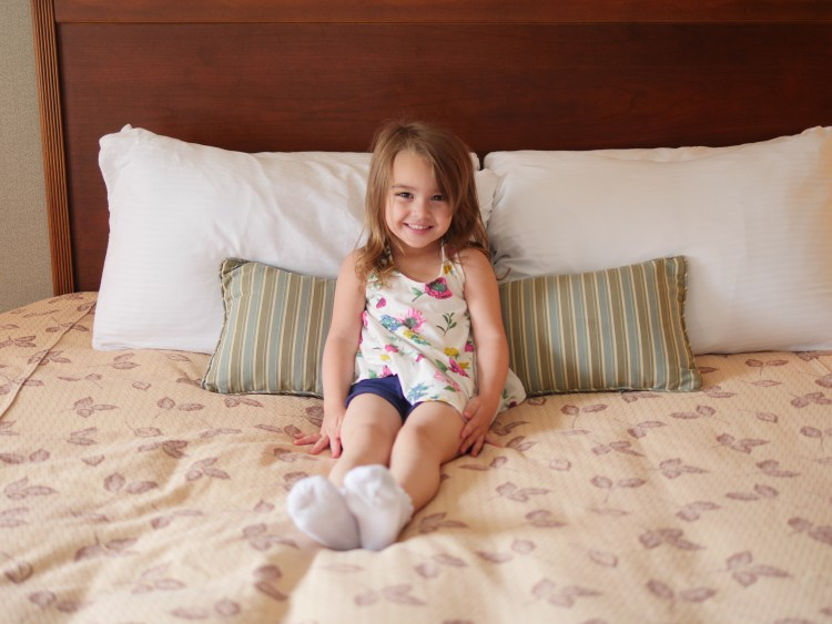At Turf Valley Resort, the King Executive Suite is spacious enough for a family of four.
