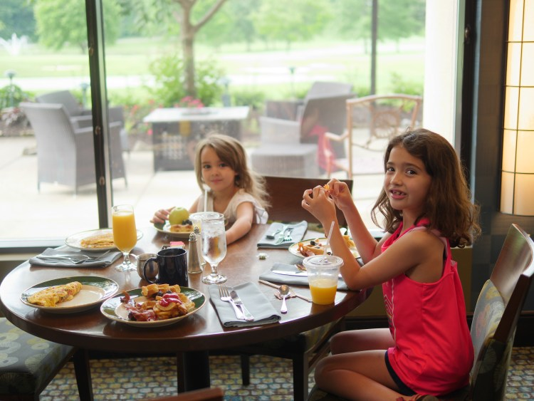 During our Memorial Day weekend getaway, the children enjoyed everything, including the food.