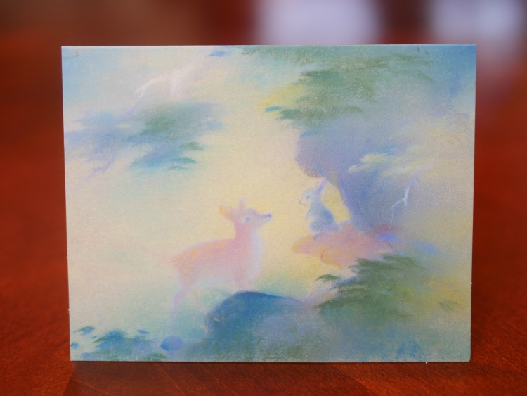 With the Bambi Anniversary Edition Blu-ray, you receive the collectible Tyrus Wong Lithograph.