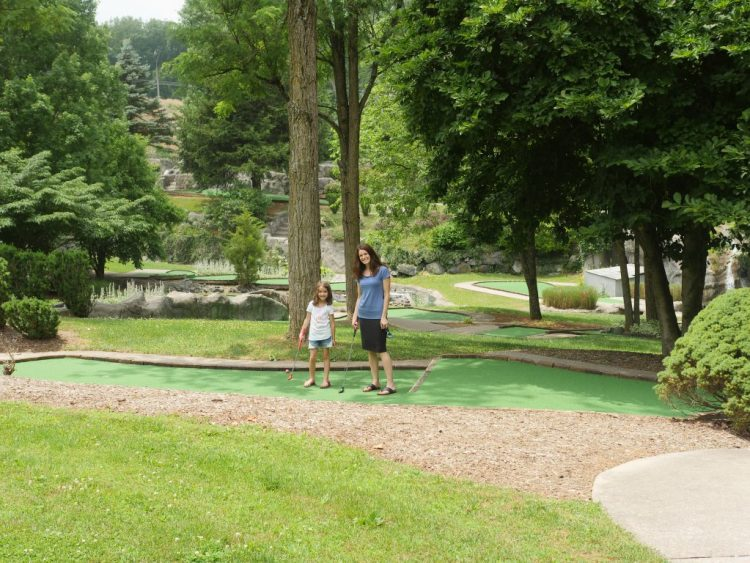 Located on four acres of landscaping, Mulligan MacDuffer Adventure Golf offers two 18-hole championship courses in Gettysburg, Pennsylvania.