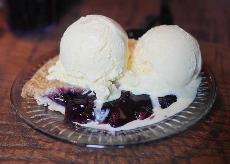 If you dine at Dunlap's Restaurant and Bakery, try the blueberry pie.