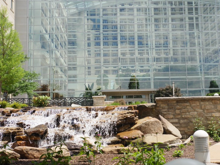 View of the atrium from outside the Gaylord National Resort