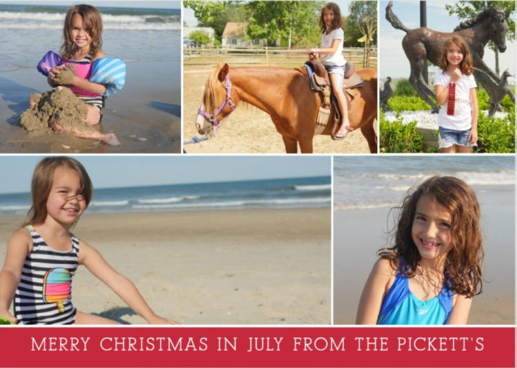 Order sample invitations for your Christmas in July family gathering, and send your invitations out early!