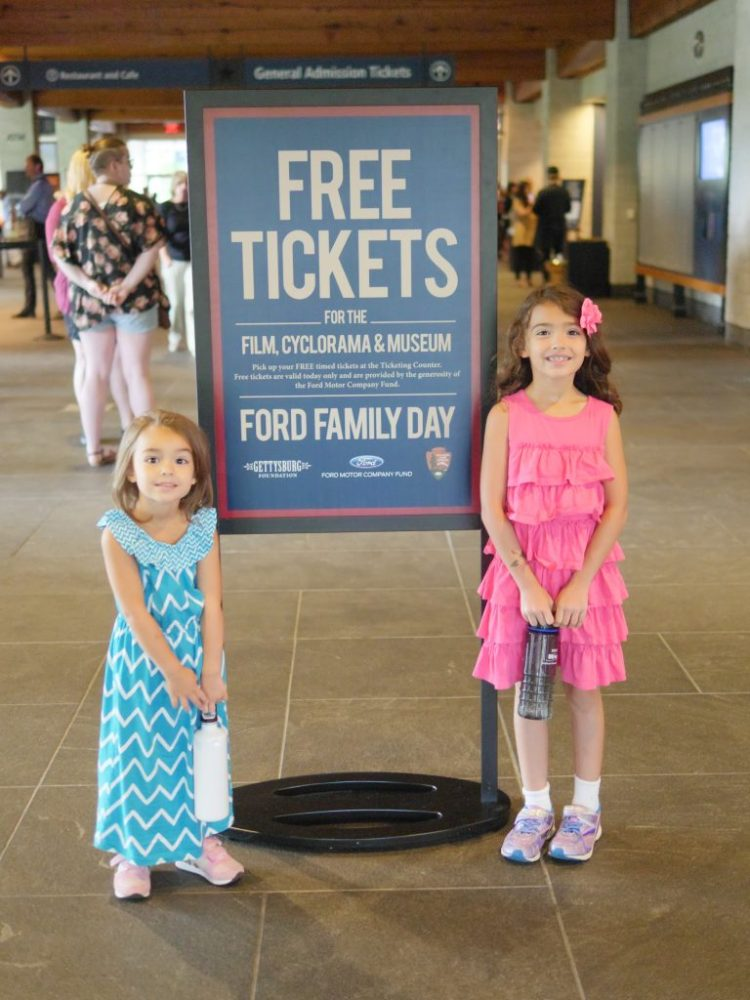 Free tickets to the film, cyclorama, and museum at the Gettysburg National Military Park Museum & Visitor's Center for Ford Family Day