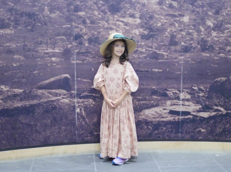 At Ford Family Day at the Gettysburg National Military Park Museum & Visitor's Center, children can dress up in Civil War outfits!