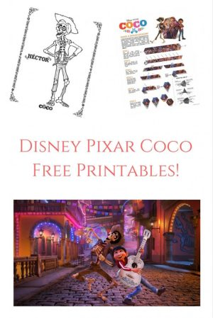 Theresa's Reviews Disney Pixar Coco Activity Sheets - Free Printables!