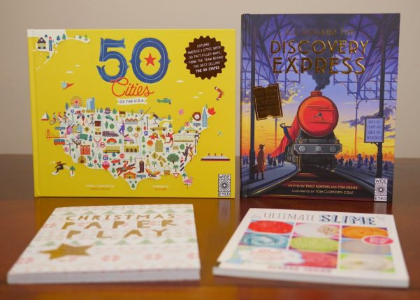 50 Cities of the USA and All Aboard the Discovery Express are two educational books children will enjoy reading. - Theresa's Reviews 2017 Christmas Gift Guide For Children