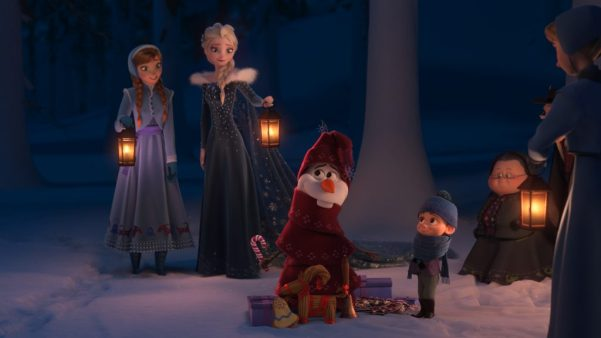 """OLD TRADITIONS – In Walt Disney Animation Studios' """"Olaf's Frozen Adventure,"""" Anna and Elsa realize that they have no traditions of their own—or do they? Directed by Stevie Wermers-Skelton and Kevin Deters, the team behind the Emmy®-winning television special """"Prep & Landing,"""" """"Olaf's Frozen Adventure"""" opens in front of Disney•Pixar's original feature """"Coco"""" in U.S. theaters on Nov. 22, 2017. ©2017 Disney. All Rights Reserved."""