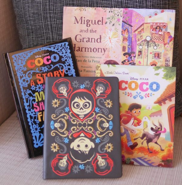 Coco Journal, Coco: A Story about Music, Shoes, and Family Book, Coco: Miguel and the Grand Harmony Book, and COCO Little Golden Book - Theresa's Reviews - 10 Must-Have Disney Pixar Coco Toys #PixarCocoEvent