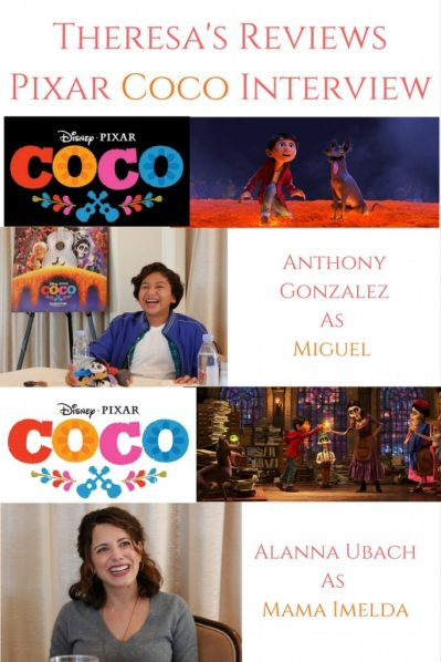 Theresa's Reviews Interviews Anthony Gonzalez (As Miguel) and Alanna Ubach (As Mama Imelda) in Disney Pixar Coco.