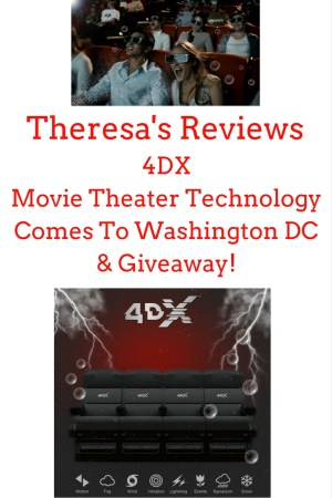 Theresa's Reviews - 4DX Movie Theater TechnologyComes ToWashington DC& Giveaway!