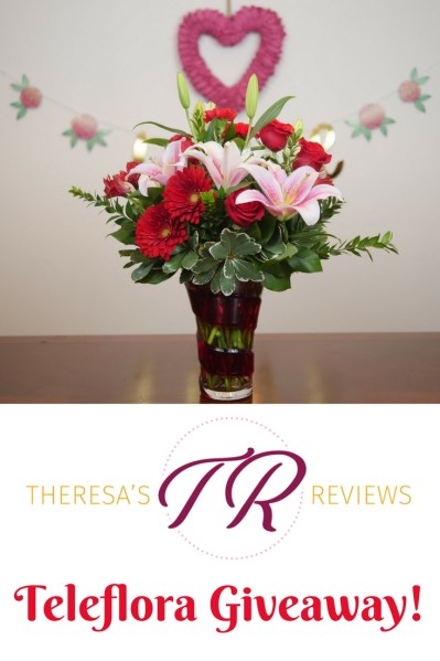 Enter to win Theresa's Reviews $75 Teleflora Giveaway this Valentine's Day!