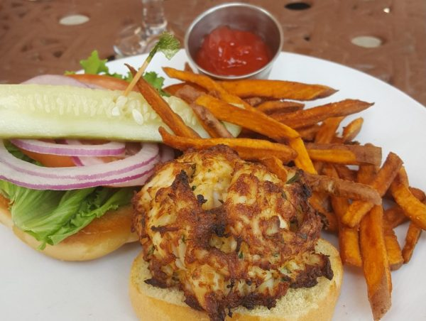 Crab Cake Sandwich at Alexandra's American Fusion