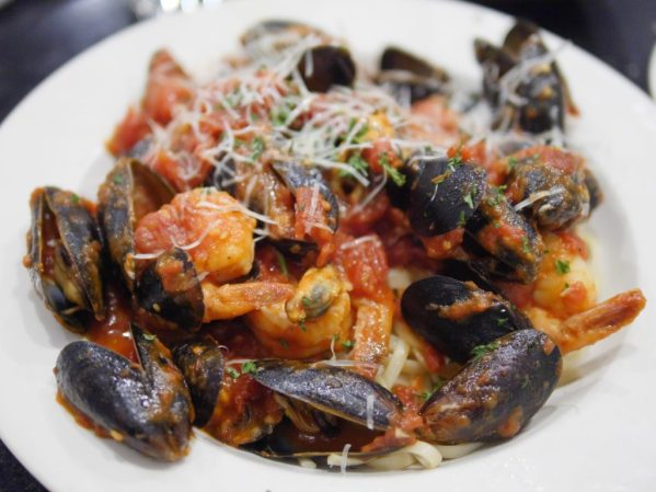 Shrimp and Mussels Pasta at Amiccis