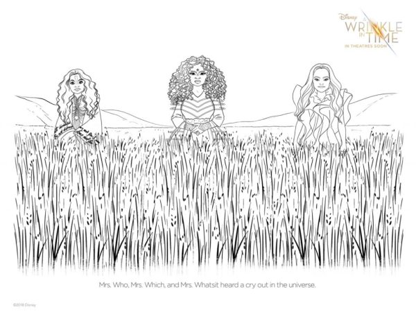A Wrinkle In Time Coloring Sheet