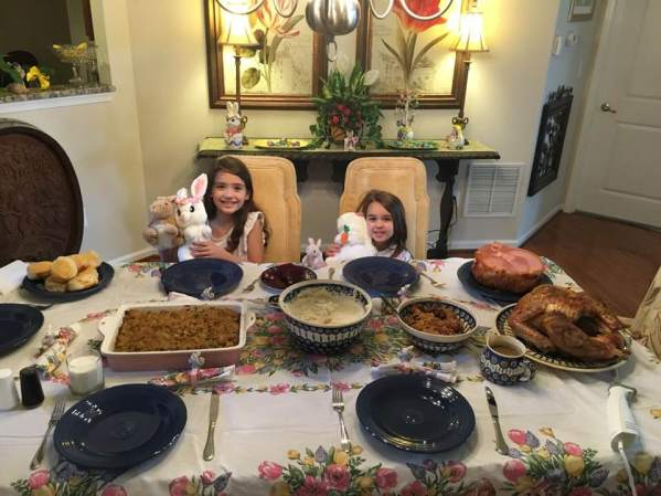 Our Spring Break Week In Review - Easter feast at grandma's house - Theresa's Reviews